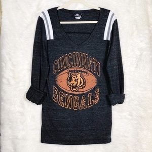 Cincinnati Bengals Grey Reglan Top size L